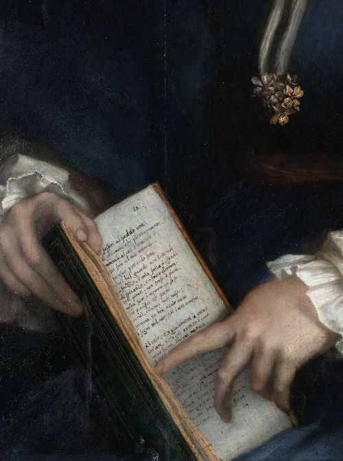 Andrea del Sarto - Lady with a book of Petrarch's Rhyme (1528)
