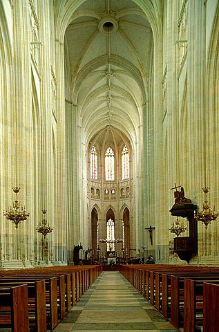 Nantes, Medieval Gothic Cathedral Nave