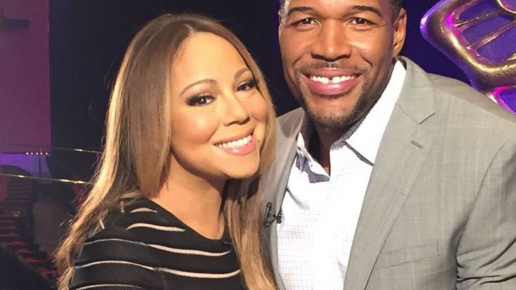 "PHOTO: Mariah Carey was interviewed by Michael Strahan in Las Vegas for ""Good Morning America."""