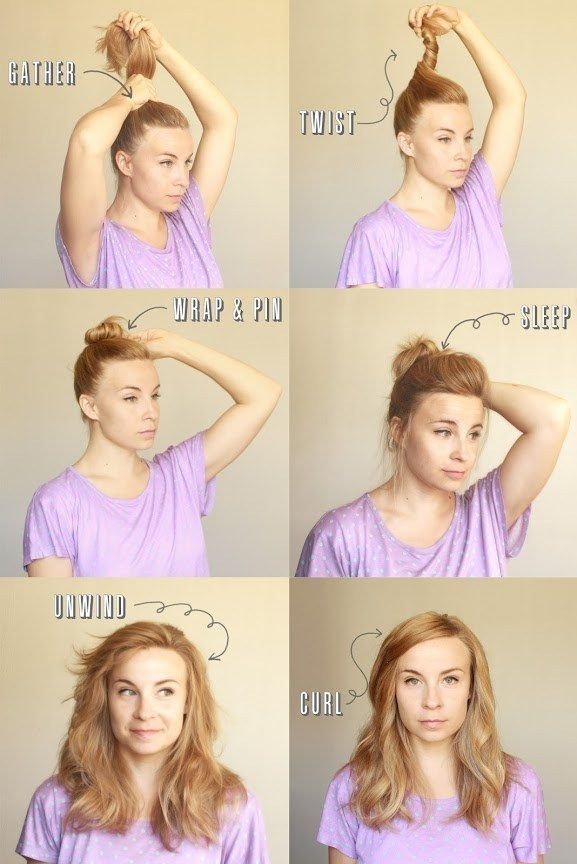 Sleep with 'em in to get effortless beachy waves. | 21 Ridiculously Easy Hairstyles You Can Do With Spin Pins