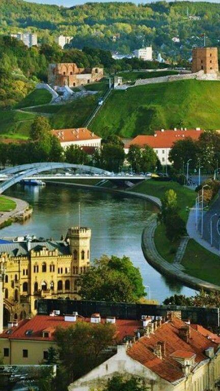The beautiful, green Vilnius, Lithuania