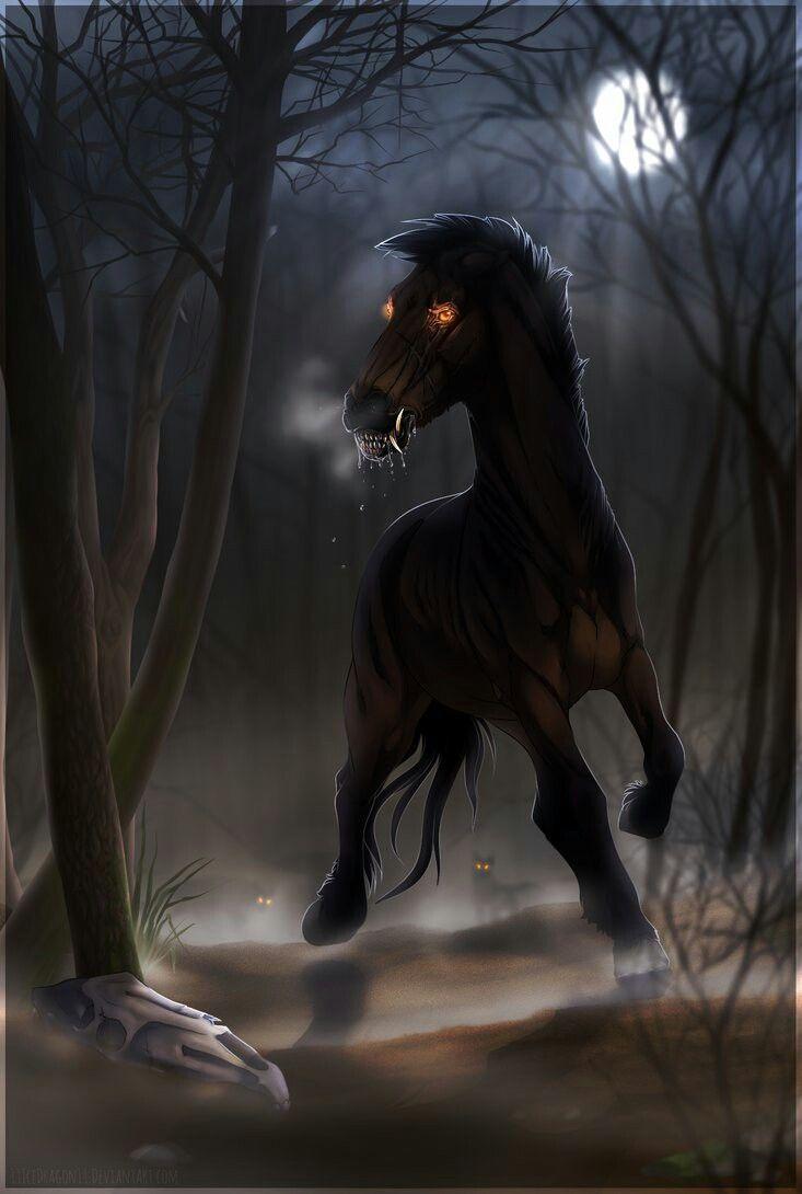 Страшные картинки лошадей