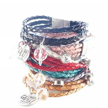 andyANDmolly Braided Leather Bracelet