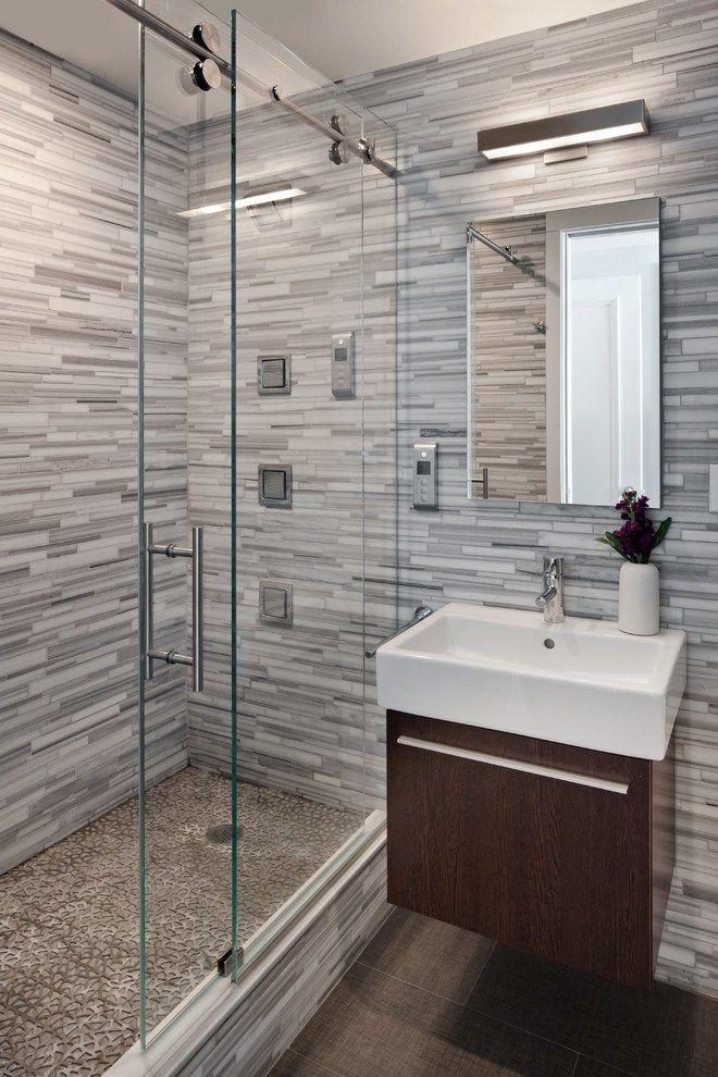 25 Minimalist Small Bathroom Ideas Feel The Big Space With Images Shower Sliding Glass Door Modern Bathroom Design Bathrooms Remodel