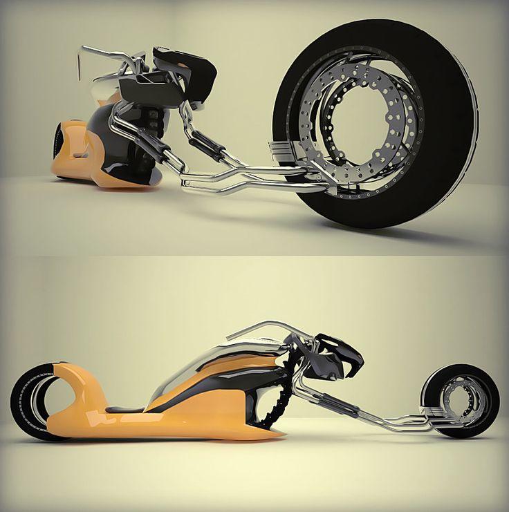 Motorbike concept 3d