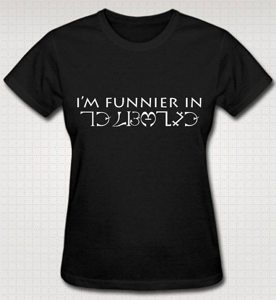 Supernatural I'm Funnier In Enochian TShirt XS S by HuntersApparel, $25.00