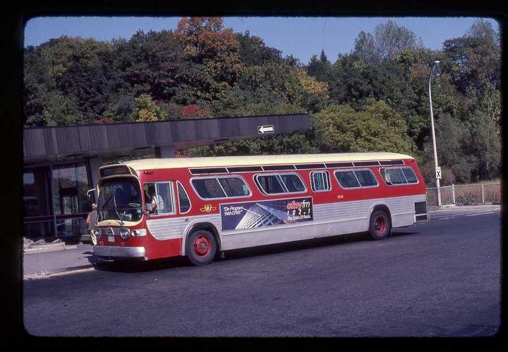 TTC Toronto original bus slide # 3341 taken 1982