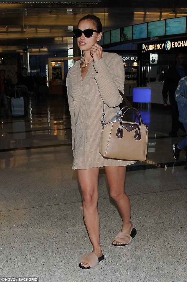Ready to fly:  The 31-year-old Victoria's Secret model was spotted at LAX on Thursday wear...