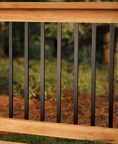 Aluminum railings instead of iron.