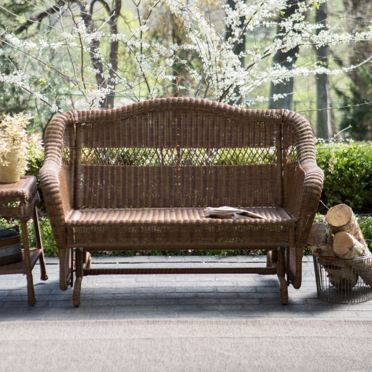 Coral Coast Casco Bay Resin Wicker Outdoor Double Glider - Outdoor Gliders at Hayneedle
