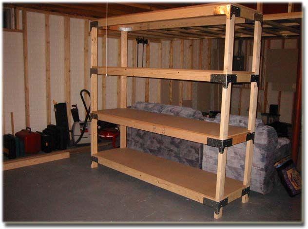 Storage Shelves Plans, 20 Screws There Were 16 Brackets Per Unit I Built 2  Units That S