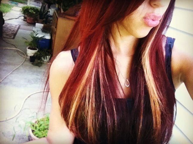 350 best images about red and blonde hair on pinterest red blonde ombre and red to blonde - Auburn Hair Color With Blonde Highlights
