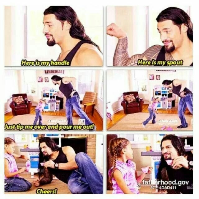 Roman Reigns and his daughter