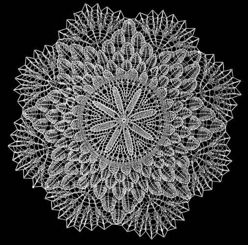 knitted lace by Marguerite Shimmons