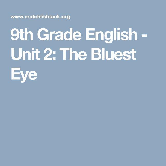 10 best the bluest eye images on pinterest blue eyes high school 9th grade english unit 2 the bluest eye fandeluxe Images