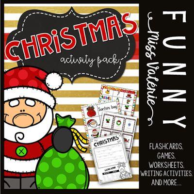 https://www.teacherspayteachers.com/Product/Christmas-Activity-Pack-3533288