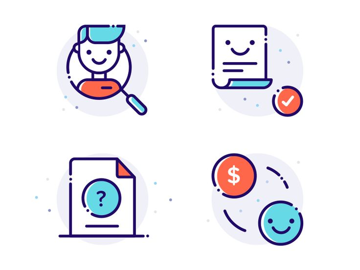 Some recent small illustrations for a finance website. Follow me on Twitter & Instagram