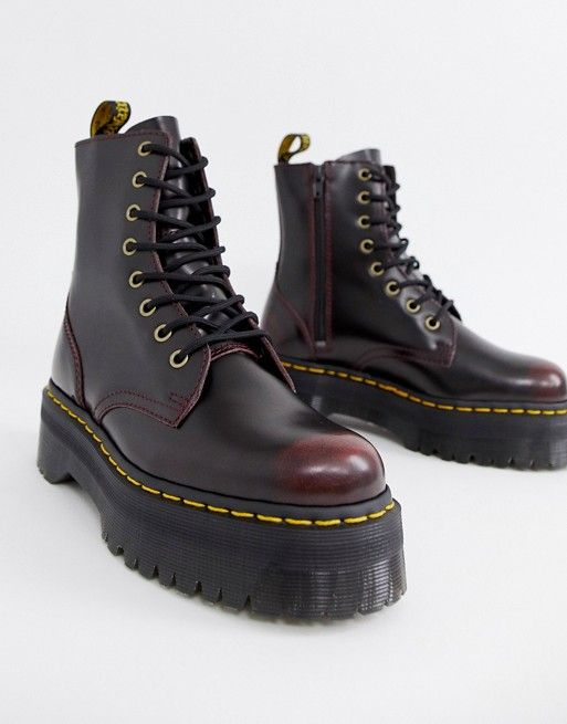 9986b44adca Dr Martens Exclusive Cherry Jadon Boots in 2019 | Outfits | Dr ...