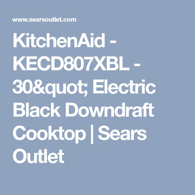 "KitchenAid - KECD807XBL - 30"" Electric Black Downdraft Cooktop 