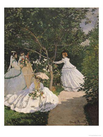 Monet....Women In The GardenClaude Monet, Woman, Art, Canvas, Gardens, Claudemonet, Painting, Women, Garden