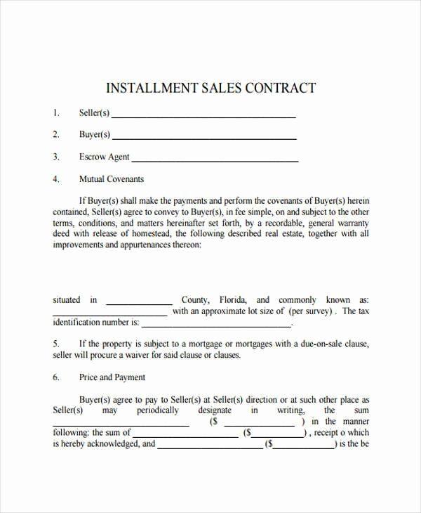 Installment Payment Plan Agreement Template Inspirational 7 Installment Contract Form Sample Contract Template Invoice Template Word Freelance Invoice Template
