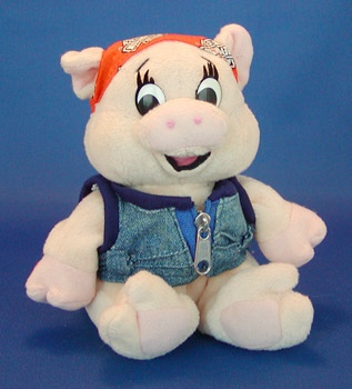 Harley Davidson Small Stuffed Piggy my dad use to always get me one when he would go to the harley store c:
