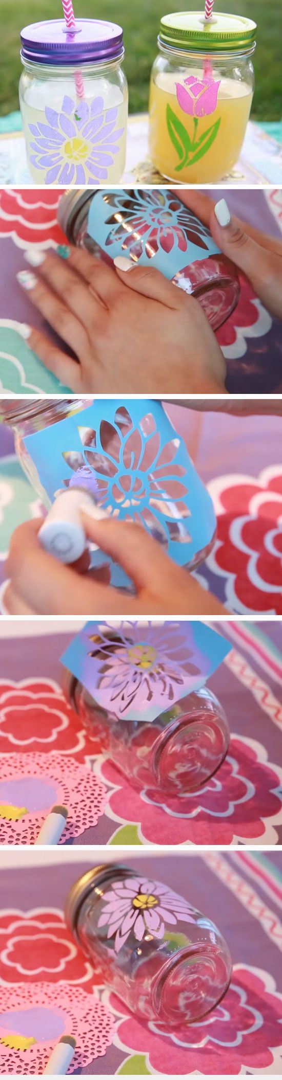 On the Go Mason Jars | DIY Mothers Day Gift Ideas from Daughter | Handmade Birthday Gifts for Best Friend