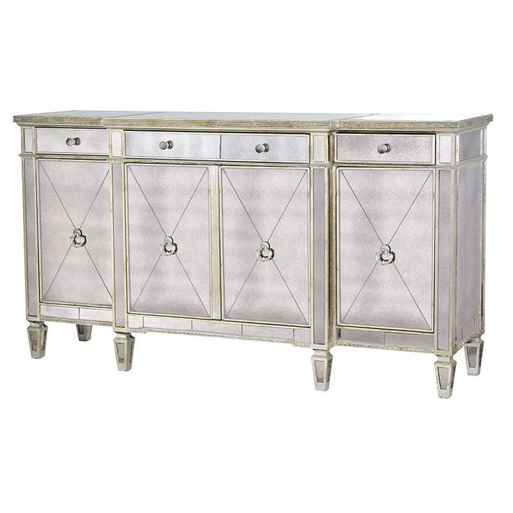 Venetian Aged Large Mirrored Sideboard | Contemporary Sideboards - Crown French Furniture