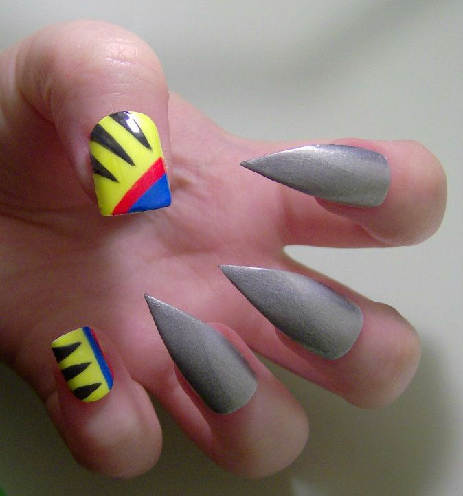 I like the thumb and pinky nails...would probably add the x-men symbol & nails inspired by other x-men in there, too.  Wolverine by ~KayleighOC on deviantART