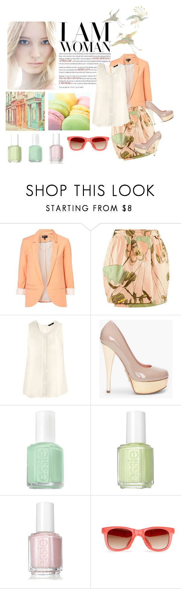 """Pastels (ABC About Me Quiz)"" by fashionmist47 ❤ liked on Polyvore featuring H&M, Alejandro Ingelmo, Essie, MANGO and Felix"