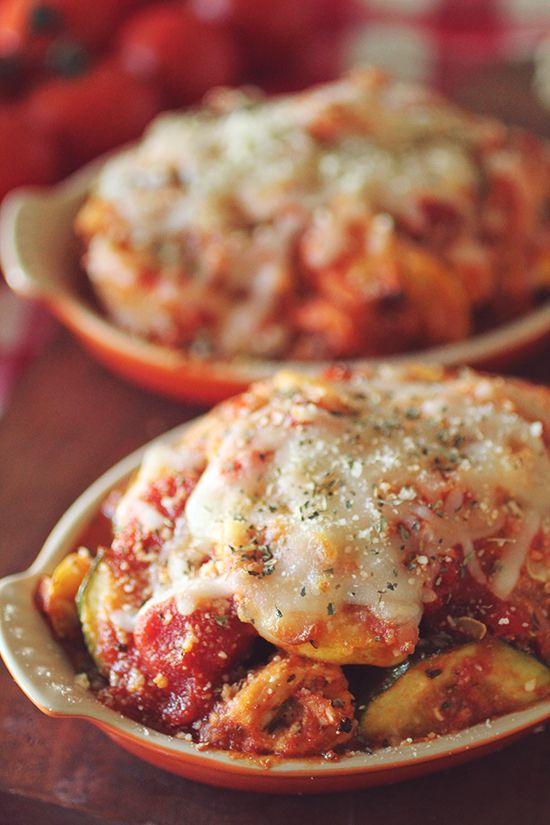 Crockpot Chicken Zucchini Parmesan
