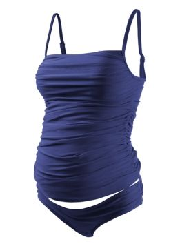 Ruched Cami Maternity Tankini Cute as none maternity as well!
