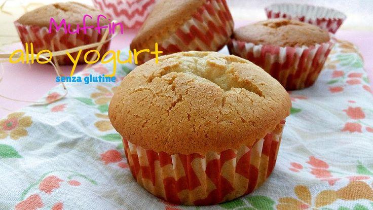 Muffin soffici allo yogurt senza glutine e lattosio
