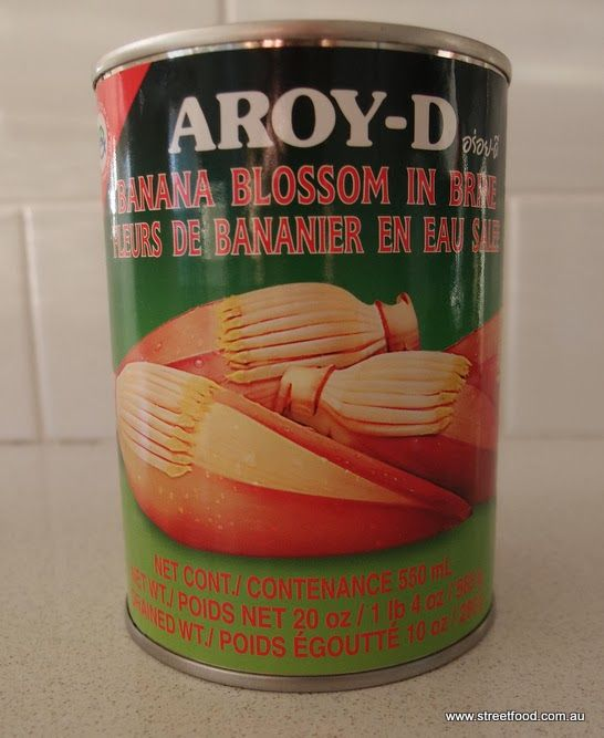 Looking for something different for a veg curry? These tinned banana blossoms make a good base for a creamy cocounut curry. Street Food: Supermarkets of Mystery ~ Tinned Banana Blossom in Brine