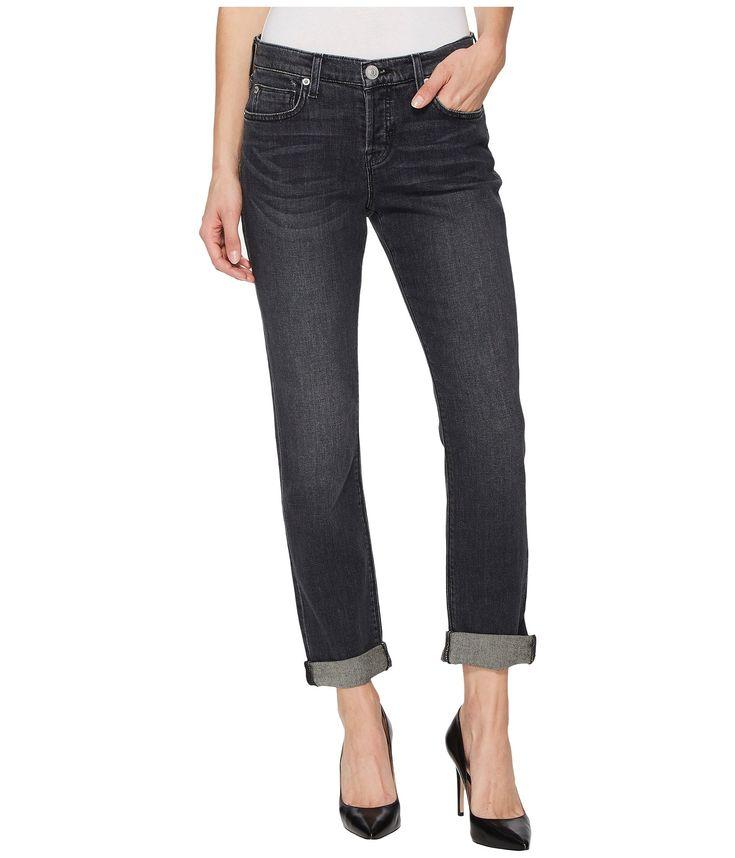HUDSON Riley Crop Relaxed Straight or Rolled Jeans in Revok. #hudson #cloth #
