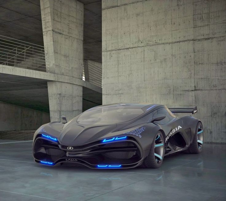 Elegant Black Marussia   Itu0027s Not A Marussia. It Is A LADA Raven Concept Car That  Says U0027russiau0027 Down The Side.