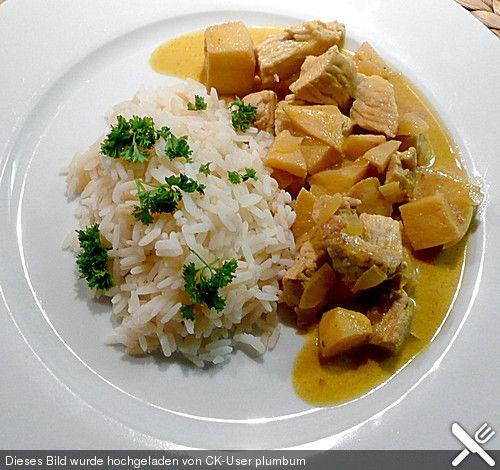 Putencurry mit Quitten und Kokosmilch