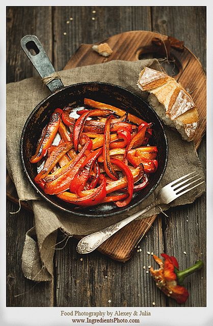 Grilled Peppers by Food Photography by Alexey & Julia, via Flickr