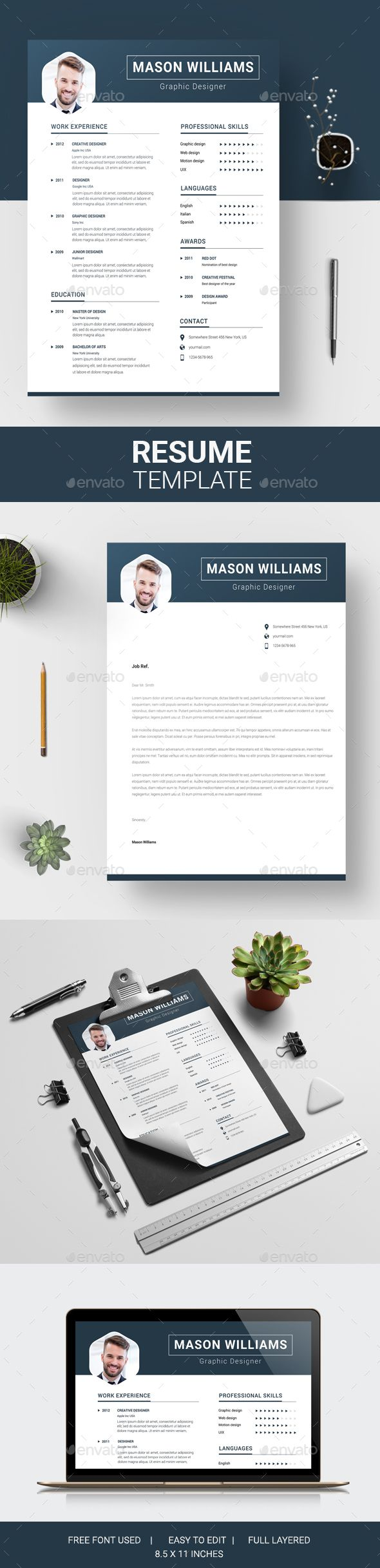 Resume by CreativesDesigns 261 best CV images