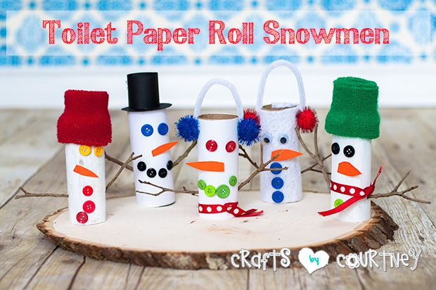Make a fun Winter craft with a warm and cozy Toilet Paper Roll Snowman. Your kids will get into the Christmas spirit with this holiday craft project.