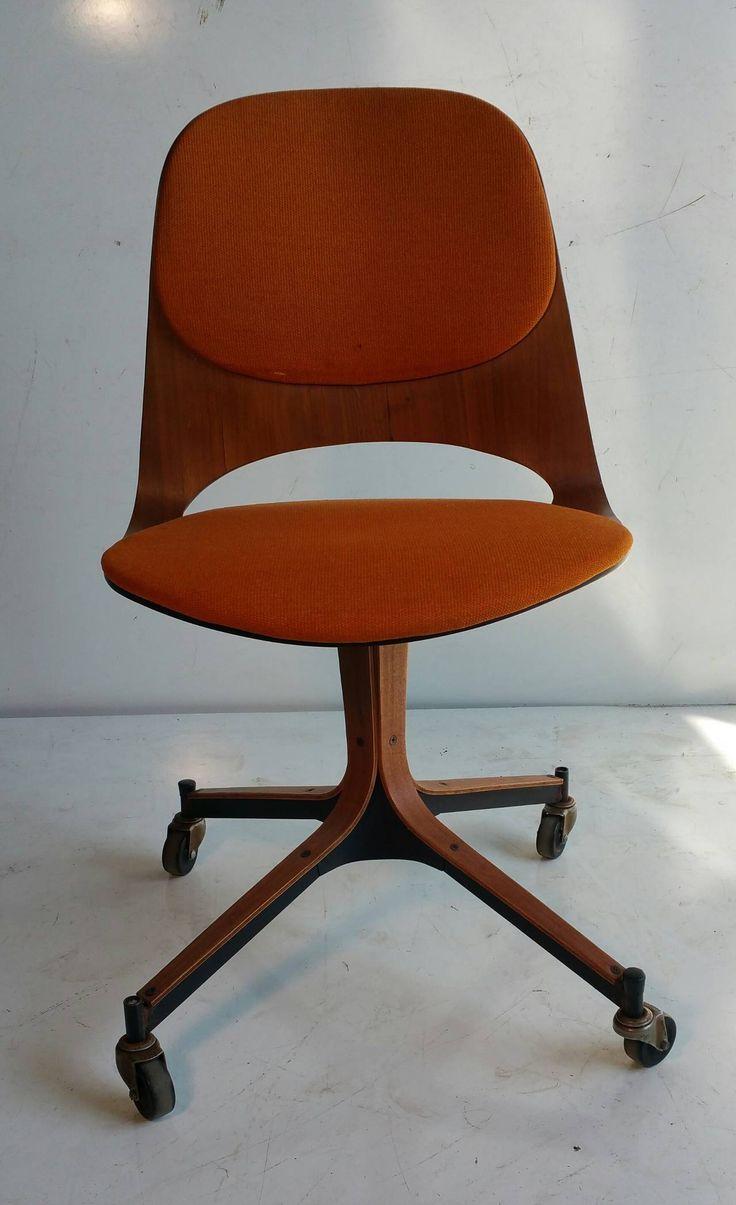 best designer  george mulhauser images on pinterest  mid  - george mulhauser rolling desk for plycraft classic modernist