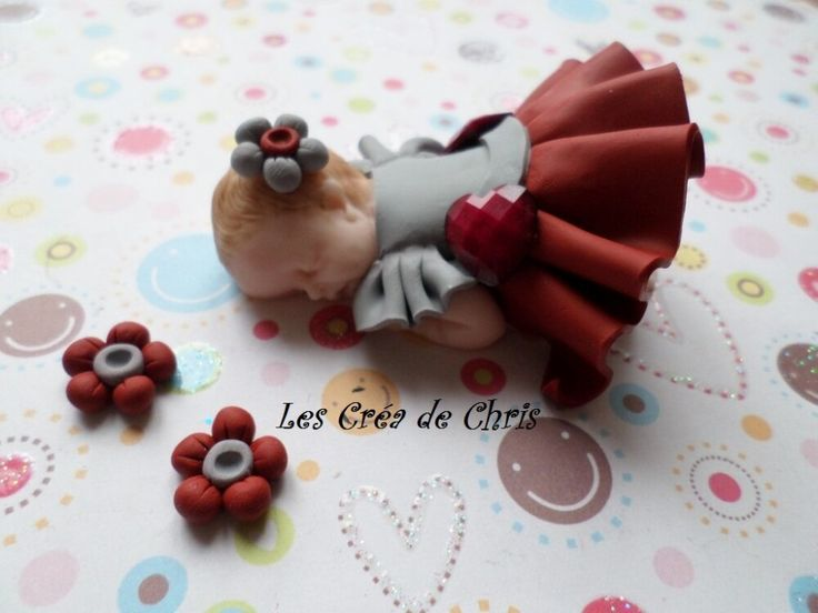 Baby fimo girl pleated skirt  – mes bébés fimo