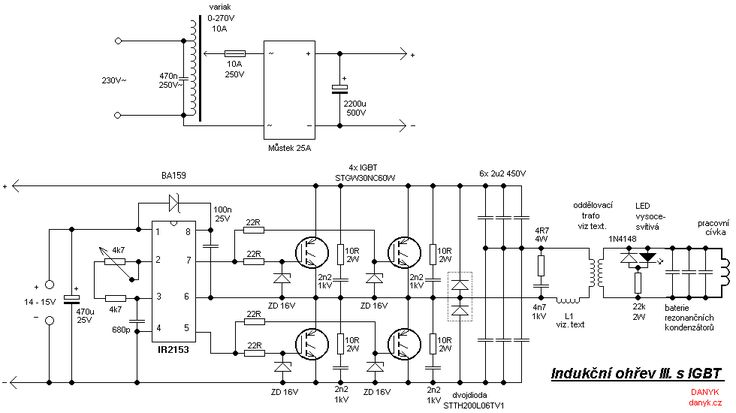 the schematic diagram of the induction heater with igbt u0026 39 s