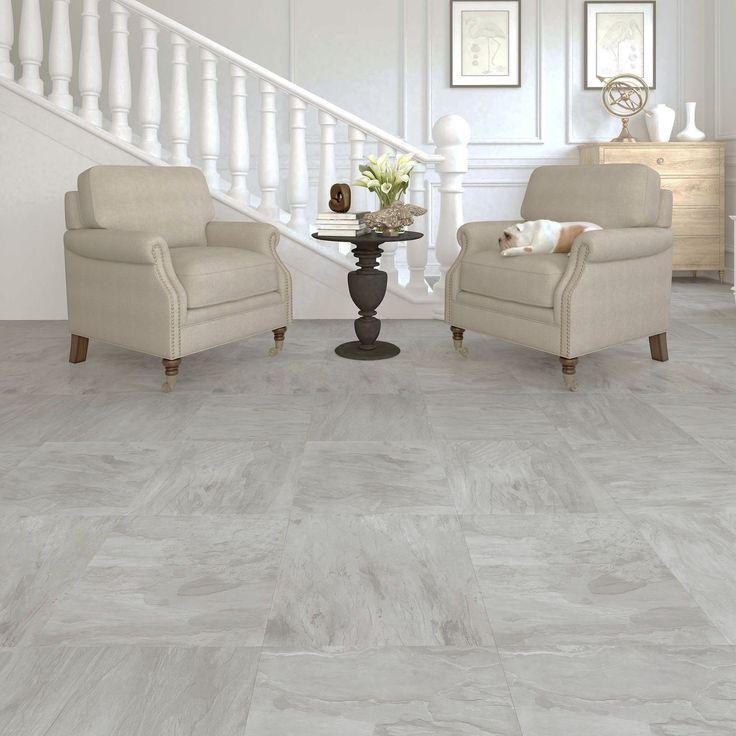 Leggiero Light Grey Slate Effect Laminate Flooring 1 86 M 178
