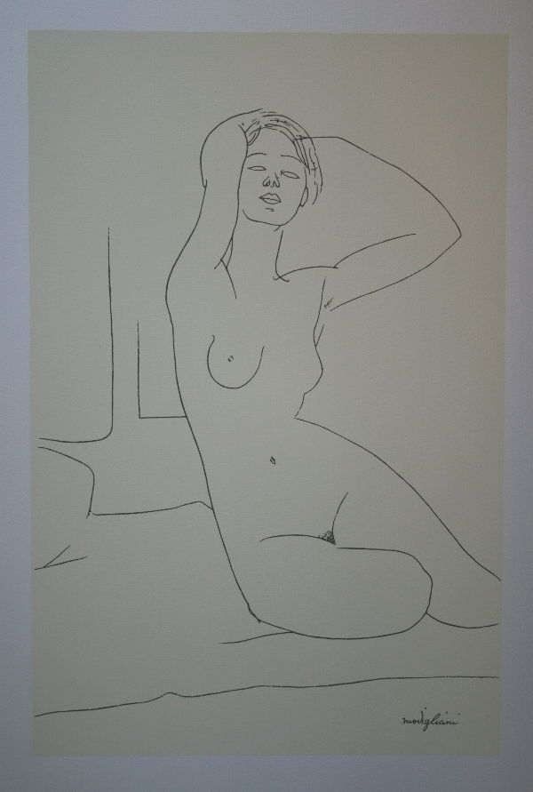 Nu aux Bras Leves # Amadeo Modigliani
