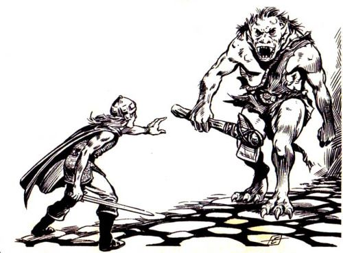 "oldschoolfrp: "" The 'orrible ogre advances, roll for"