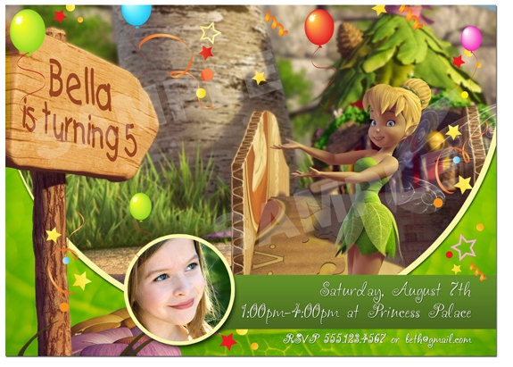 51 best tinkerbell images on Pinterest Birthday invitations