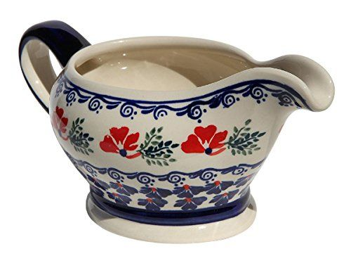 Polish Pottery Gravy Boat 16 Oz From Zaklady Ceramiczne Boleslawiec 12581115 Traditional Pattern Capacity 16 Oz ** Click the VISIT button to find out more