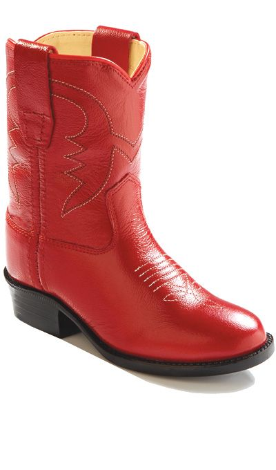 9410b985557 Jama Infant's and Toddlers All Red Leather Western Cowgirl Boots ...