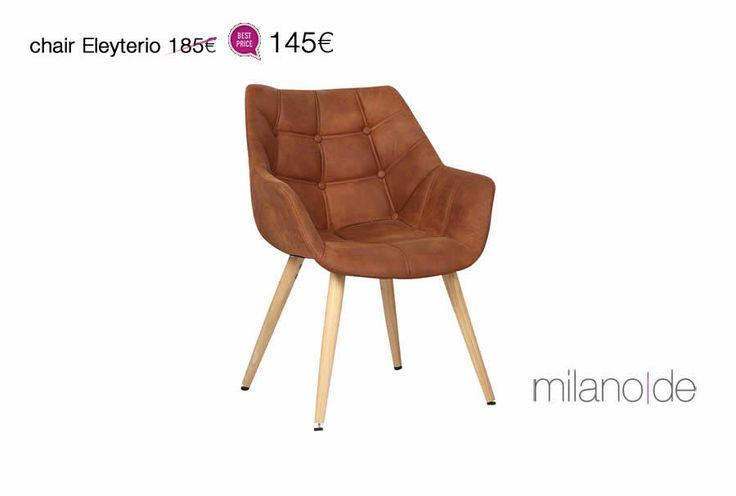 #Καρέκλα Eleyterio από τη Milanode, σε ένα #vintage urban σχέδιο απαράμιλλης άνεσης & αισθητικής.   https://www.milanode.gr/product/gr/2396/karekla_eleyterio.html